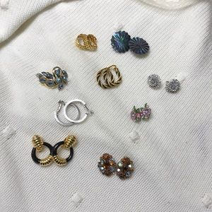 9 Pairs or Clip-On Earrings